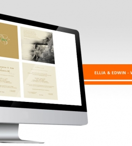 Ellia & Edwin – Wedding Invitation Design + Production