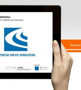 Dimensi Daya Diagonal – Logo Design