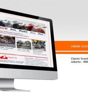 CINERE SCOOTER – Website Design