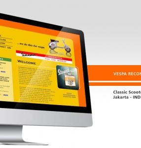 VESPA RECORD – Website Design
