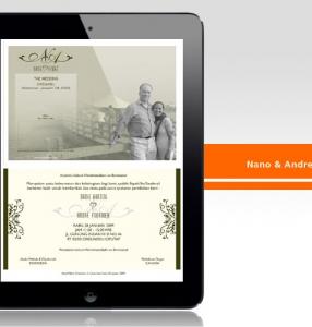 Nano & Andre – Wedding Invitation Design