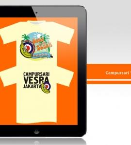 Campursari Vespa – T Shirt Design