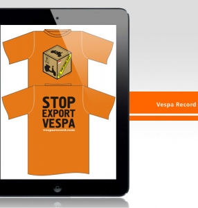 Vespa Record – TShirt Design