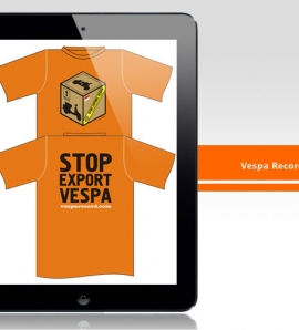 Vespa Record – T Shirt Design + Production