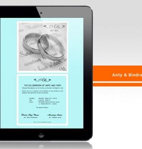 Anty & Bindra – Wedding Invitation Design