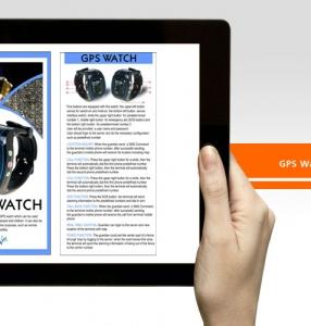 GPS Watch – Brochure Design